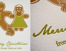 Gingerbread Family Christmas Card